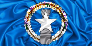 3d drapeau de ondulation FO Mariana Islands du nord Photo libre de droits