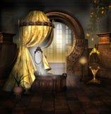 D'or drapez Photo libre de droits