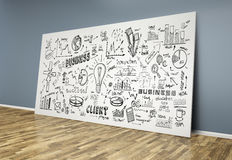 3d drawing business concept on poster Stock Photos