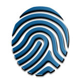 3D drawing fingerprint symbol. Illustration for the web Stock Images