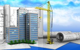 3d drawings rolls Royalty Free Stock Photography