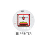 3d Drucker Modern Technology Icon stock abbildung