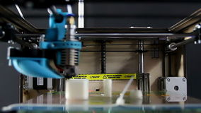 3D Drucker At Work Process stock footage
