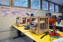 3D Druk - Italiaanse wetenschappelijke FabLab Stock Fotografie