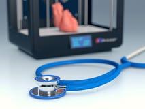 3d druk w medycynie Zdjęcie Stock
