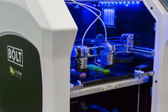 3d drukarka przy technologii centrum w Mediolan, Włochy Obrazy Stock
