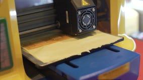3d drukarka robi składnikowi, nowatorskie technologie w produkci, zbliżenie zbiory wideo