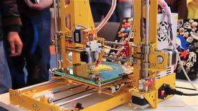 3D drukarki działania zakończenie up 3d druk zbiory wideo