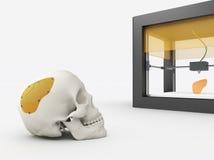 3d drukowany cranium ilustracja wektor