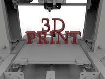 3D drukowy pojęcie Zdjęcie Stock
