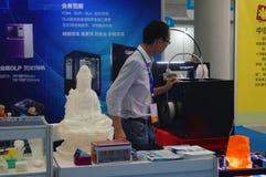 3D druktoepassingen en faciliteiten en Materiaaltentoonstelling Royalty-vrije Stock Afbeelding