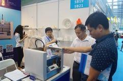 3D druktoepassingen en faciliteiten en Materiaaltentoonstelling Royalty-vrije Stock Fotografie