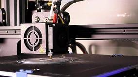 3D druku szczegół - Srebny 3D druku kawałek zbiory wideo