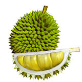 3D Durian fruits Royalty Free Stock Photos