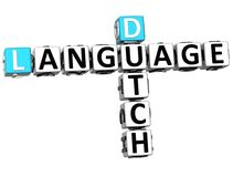 3D Dutch Language Crossword Royalty Free Stock Photo