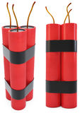 3d dynamite pack with fuse. On white background Stock Images
