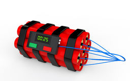 3d dynamite time bomb. 3d render of dynamite time bomb Stock Photo