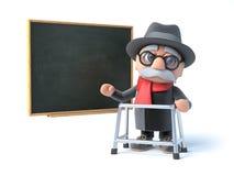 3d dziadunio z odprowadzenie ramy stojakami blackboard Zdjęcie Royalty Free