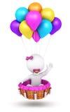 3d dziewczynki latania biali ludzie Obraz Royalty Free