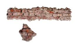 3d dziury ceglana ilustracja odpłaca się ścianę obraz royalty free