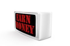 3d earn money concept Royalty Free Stock Photo