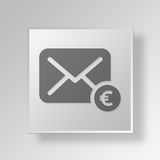 3D earnings Button Icon Concept Royalty Free Stock Photo