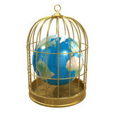 3d Earth in a birdcage Royalty Free Stock Image
