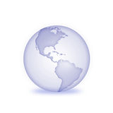3D Earth. 3D glass earth with a bluish tint Stock Photography
