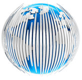 3d earth globe with bars Stock Photography