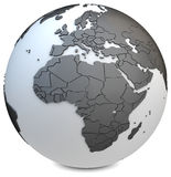 3d earth globe black Royalty Free Stock Photography