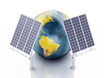 3d earth globe. eco energy concept Stock Images