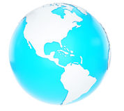 3D Earth globe Royalty Free Stock Photography