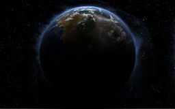 3d Earth like planet Stock Photos