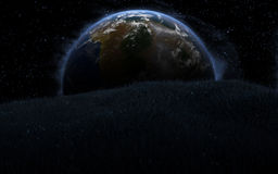 3d Earth like planet Stock Image
