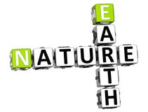 3D Earth Nature Crossword text Royalty Free Stock Images