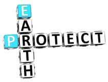 3D Earth Protect Crossword Royalty Free Stock Photos