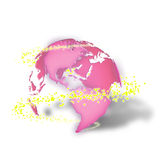 3d earth with sparkles. Royalty Free Stock Photo