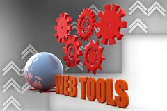 3D Earth  Web Tools Illustration Stock Image