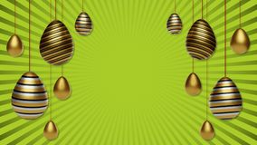 3d easter eggs background Stock Photo