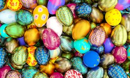 3d easter eggs Royalty Free Stock Photography