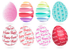 3D Easter eggs, vector set Stock Image