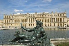 d eau分配为花坛的区域凡尔赛 免版税库存照片