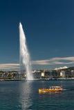 d eau日内瓦喷气机瑞士 免版税图库摄影