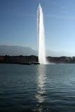 d eau日内瓦喷气机瑞士 库存照片