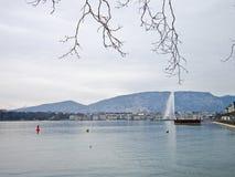 d eau Geneva dżetowy Switzerland Obraz Stock