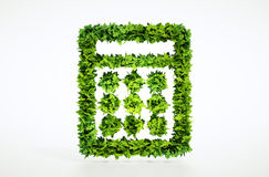 3d eco calculator sign. Stock Image