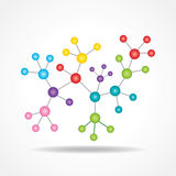 3d eco chemical atomic structure molecule model Stock Photography