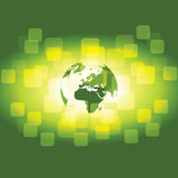 3D Eco Earth Globe - Business Background. Abstract 3D Eco Business Green Background - Vector Illustration Stock Image