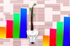 3d Eco Lighting System Illustration Stock Images