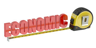 3D economic concept. Economic concept 3D on white background Stock Image